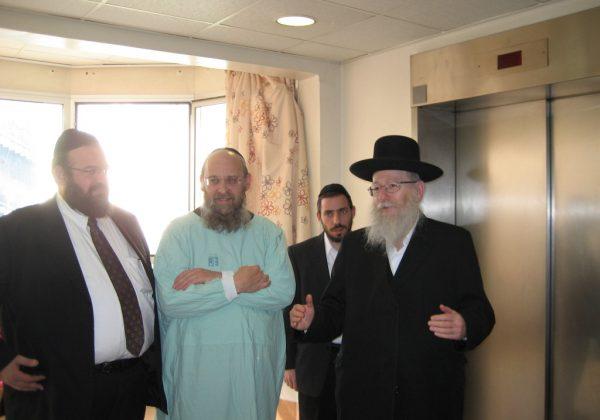 """ביקור סגן שר הבריאות ח""""כ הרב יעקב ליצמן במרכז רפואי אסף הרופא"""