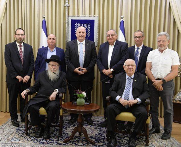 בוני עולם במפגש הוקרה מיוחד בבית הנשיא מר ראובן ריבלין