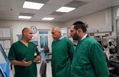 ראש חטיבת בריאות במכבי ערך סיור במוקד הפיקוח של בוני עולם